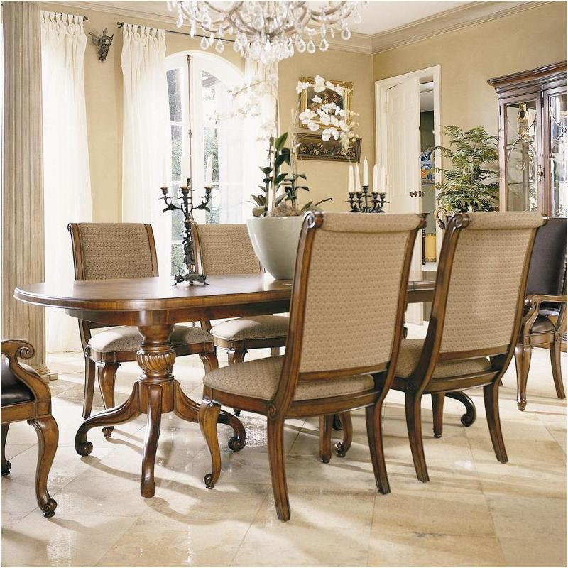 582 744 American Drew Furniture Double Pedestal Dining Table