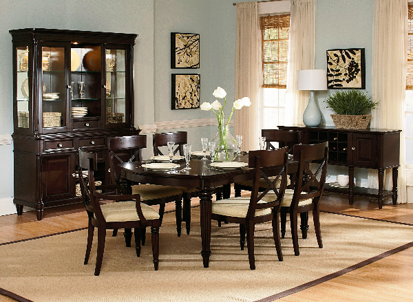 Tuxedo Park Dark Chocolate Dining Set, Wynwood Dining Room Sets