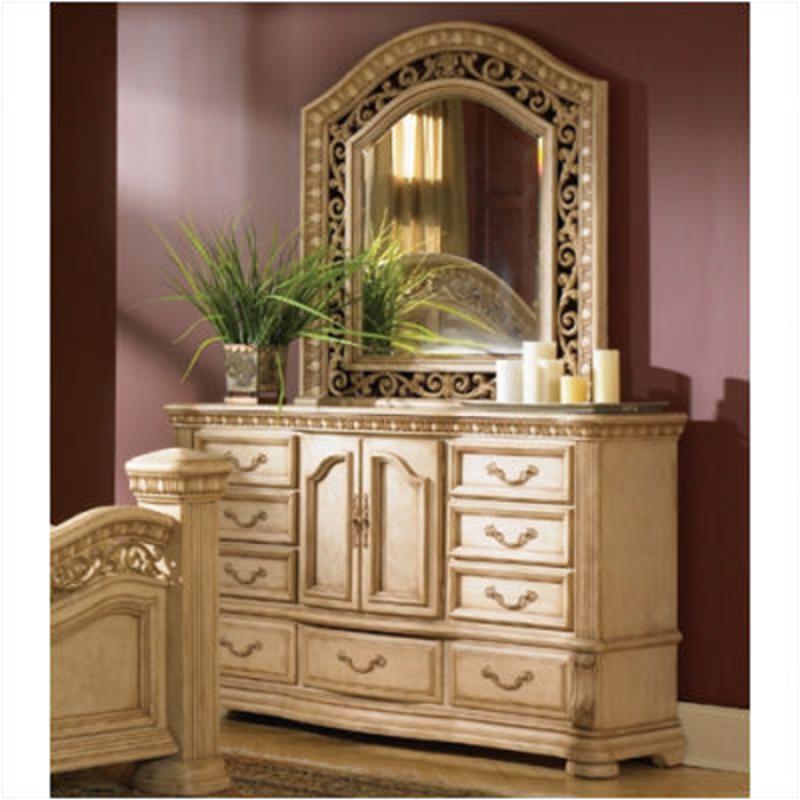 1636 62 Flexsteel Wynwood Furniture Door Dresser Antiguo Blanco