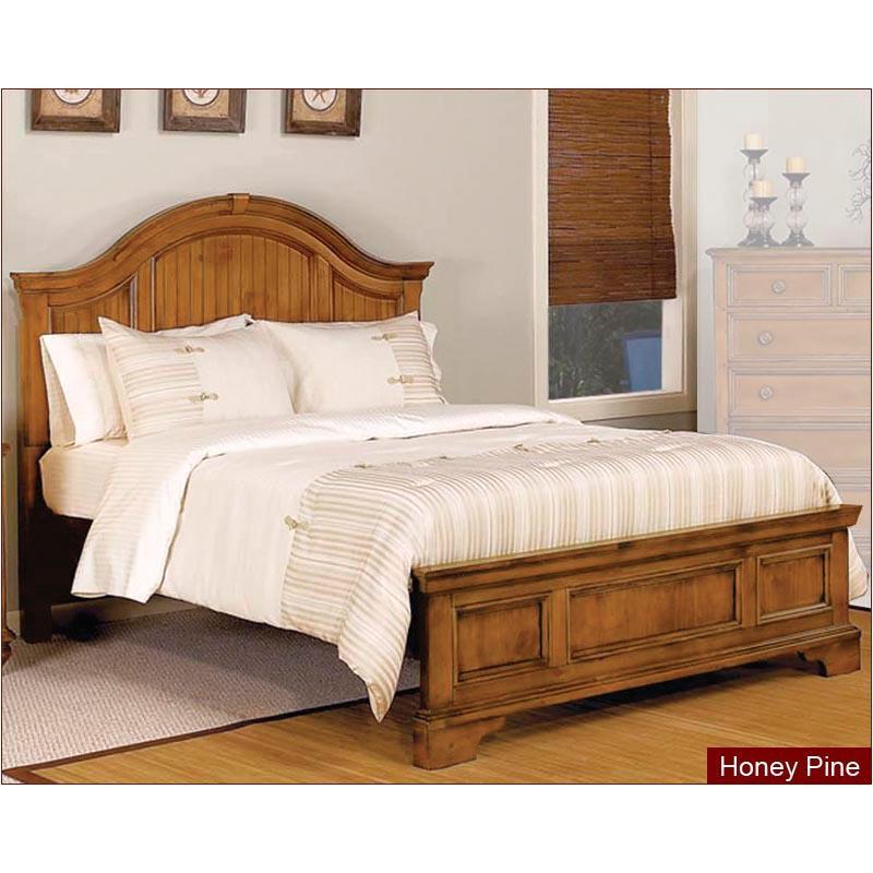 1656 93q1 Flexsteel Wynwood Furniture Queen Panel Bed Honey Pine