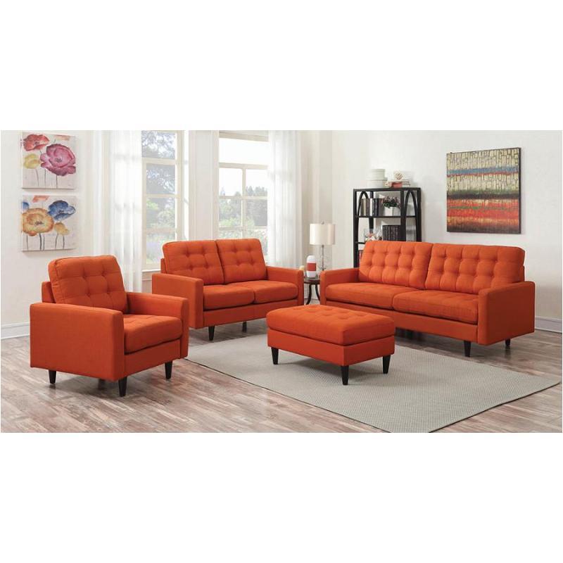 505371 Coaster Furniture Kesson Orange Living Room Sofa