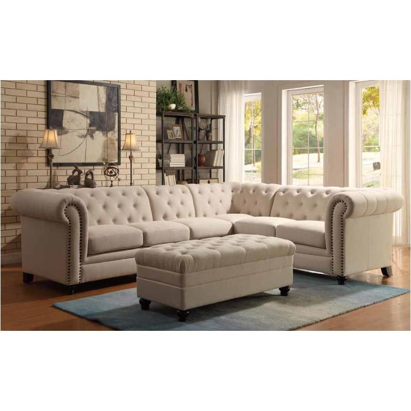 500222 Coaster Furniture Roy - Oatmeal Living Room Sectional