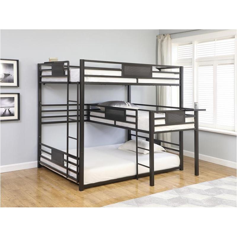 460583 Coaster Furniture Bedroom Q T Q Triple Bunk Bed