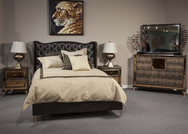 Hollywood Loft Bedroom Set Aico Furniture, Hollywood Loft 4 Piece Queen Bedroom Set