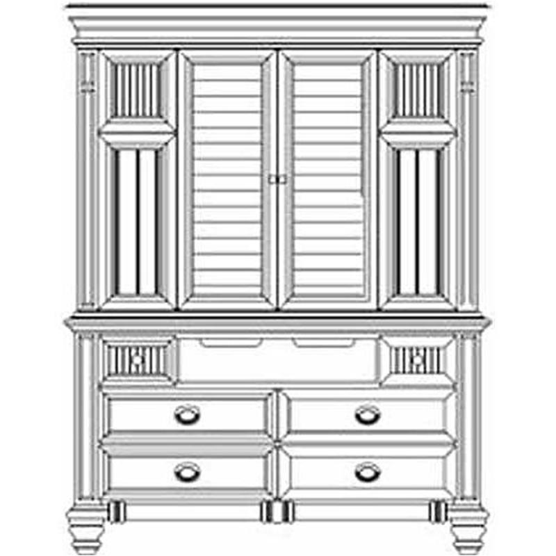 86081t 02 Aico Furniture Tv Armoire Island White