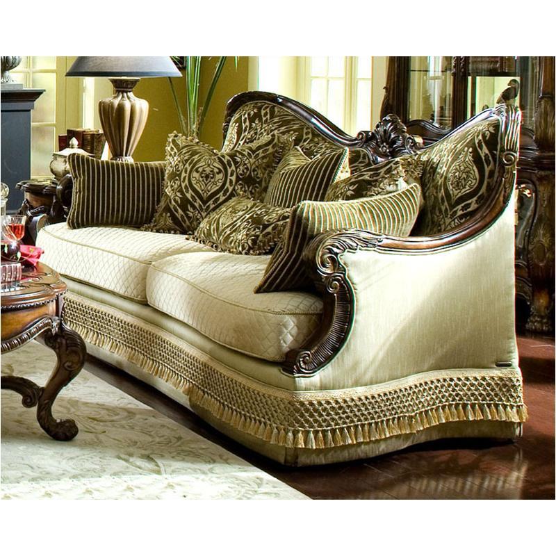 75815 Brnbl 39 Aico Furniture Chateau Beauvais Wood Trim Sofa