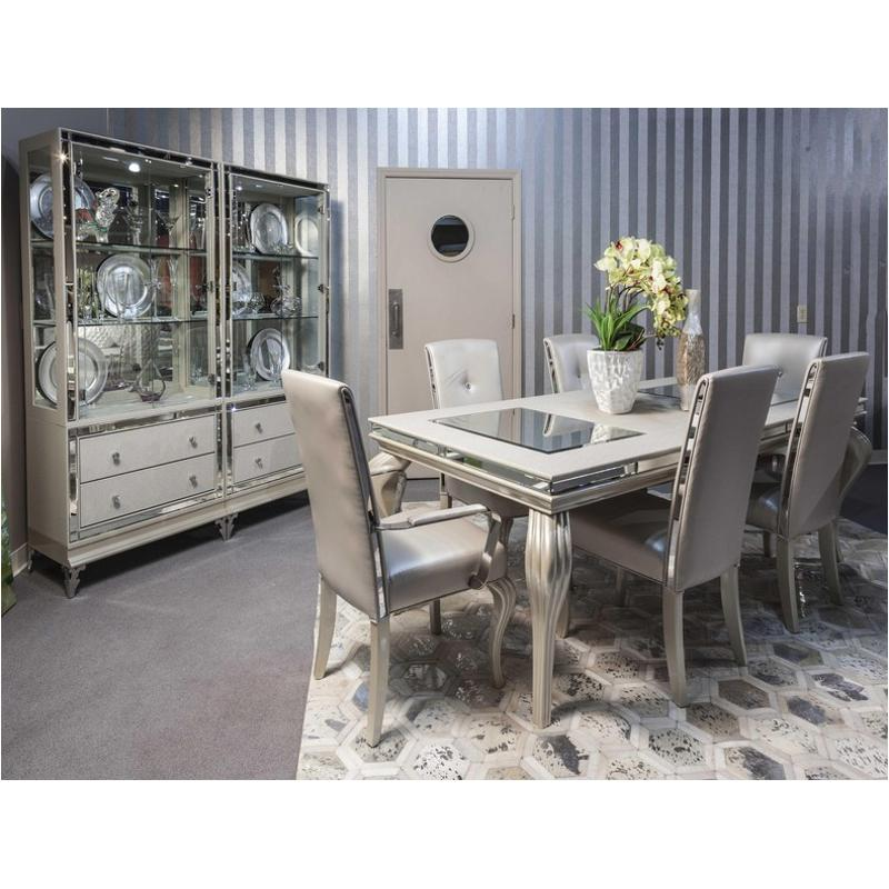 9001600t 104 Aico Furniture Hollywood Loft Frost Dining Table