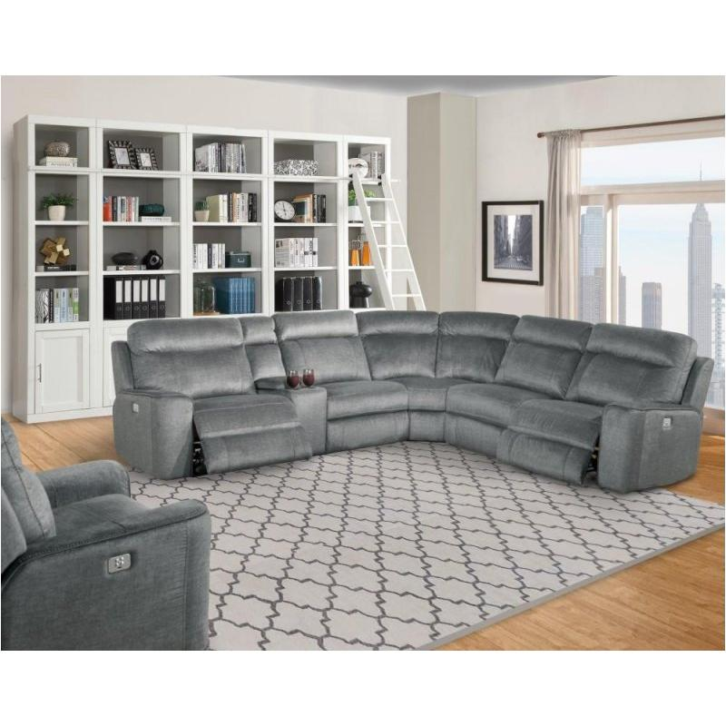 Mpar14ph-tit Parker House Furniture Parthenon - Titanium Sofa Dual  Recliner Power With Usb And Power Headrest