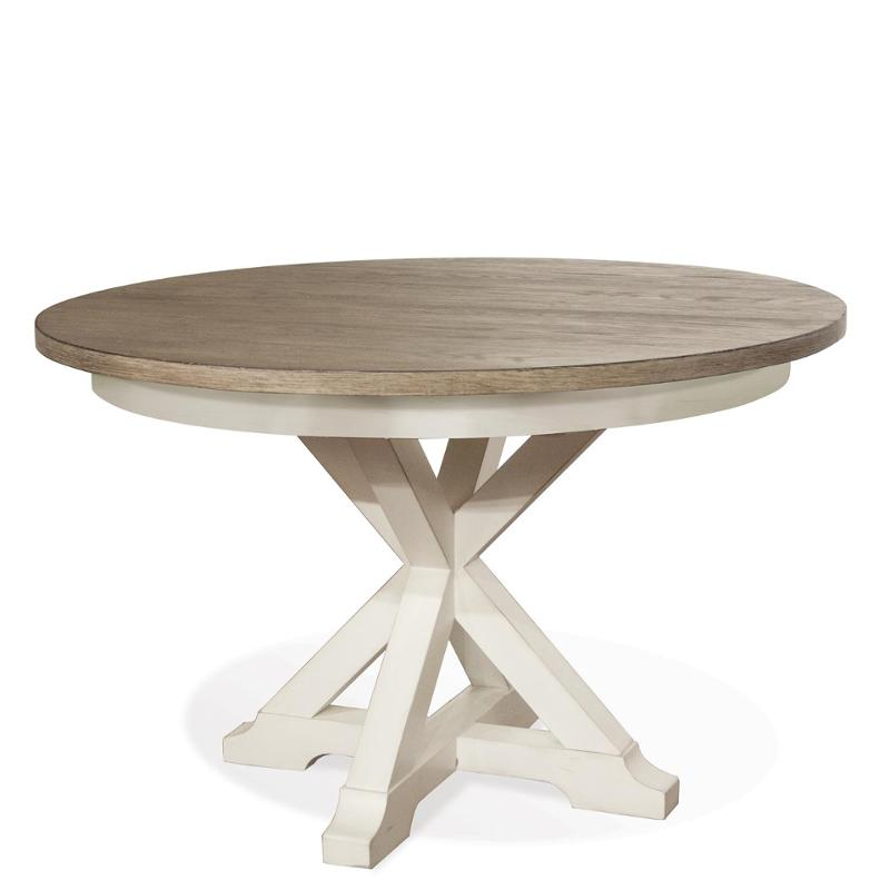 59357 Riverside Furniture Myra Round, Round Dining Room Table With Pedestal Base