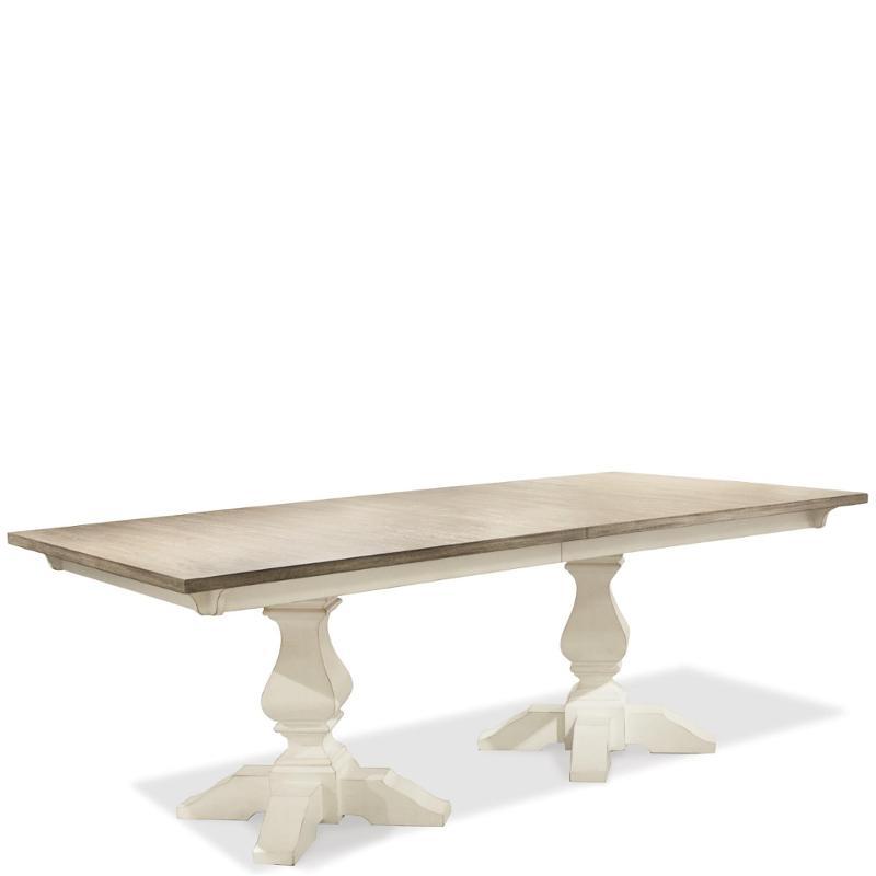 59358 Riverside Furniture Myra Rectangular Dining Table Pedestals