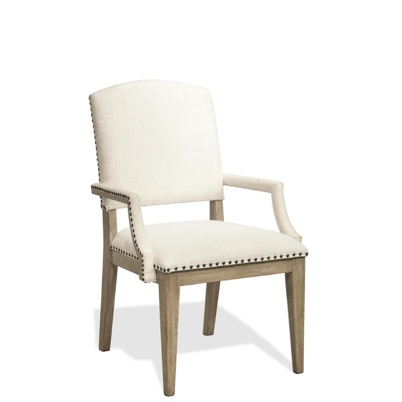 59453 Riverside Furniture Upholstered Arm Dining Chair 2 Inch