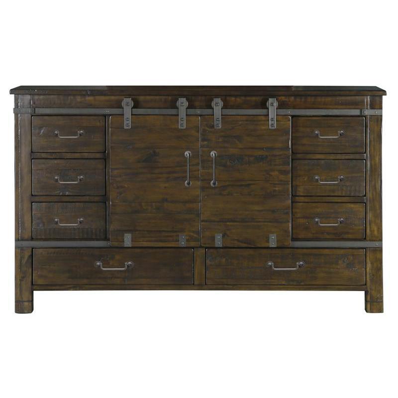 B3561 24 Magnussen Home Furniture Pine Hill Sliding Door Dresser