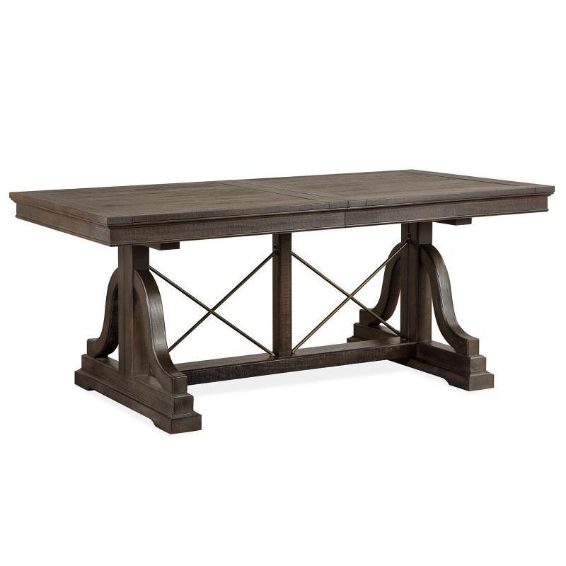 D4399 25t Magnussen Home Furniture Trestle Dining Table