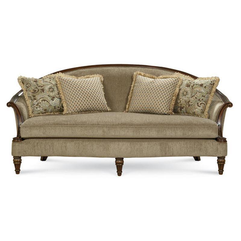 Schnadig Furniture Allyson Carved Wood Sofa
