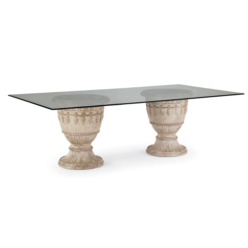 3062 935t Schnadig Furniture Empire Ii Parchment Dining Table