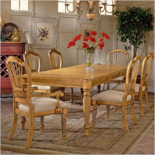 Antique Pine Dining Set Hilale Furniture, Wilshire Dining Room Furniture