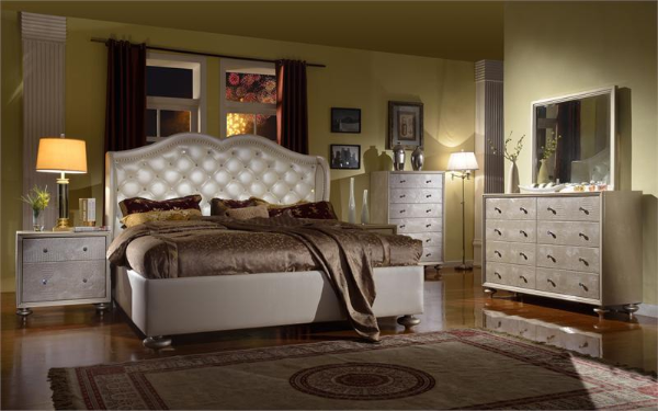 Manhattan Pearl Bedroom Set Mc Ferran Home Furnishings