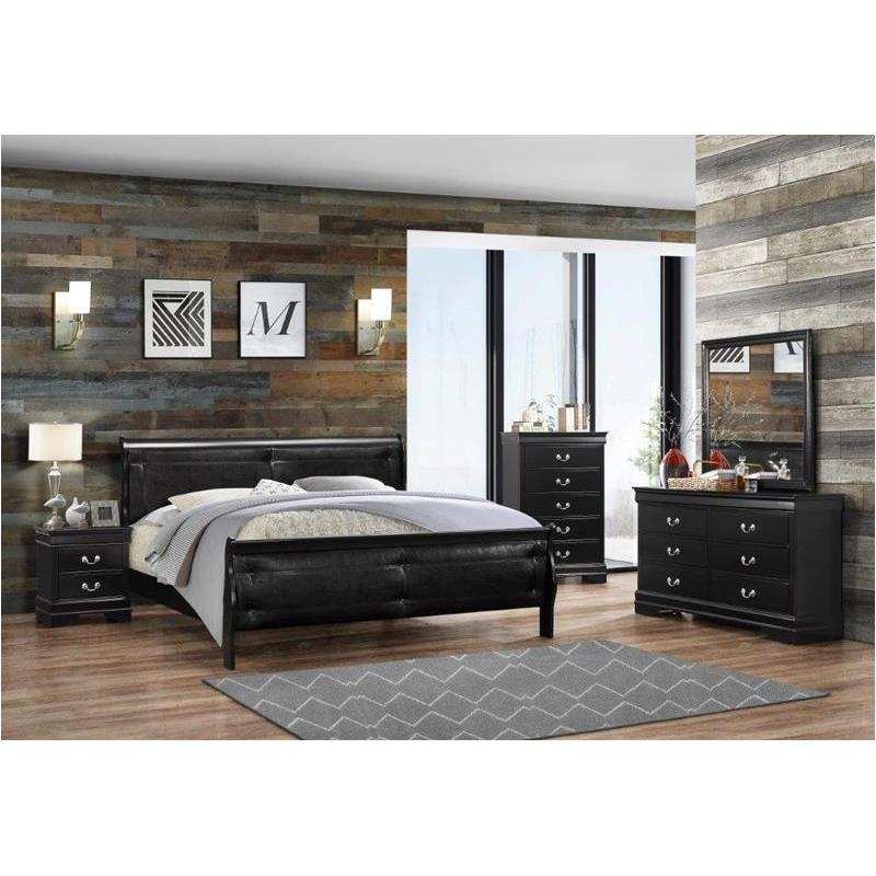 Marley Bl Qb Global Furniture Marley Black Bedroom Queen Bed