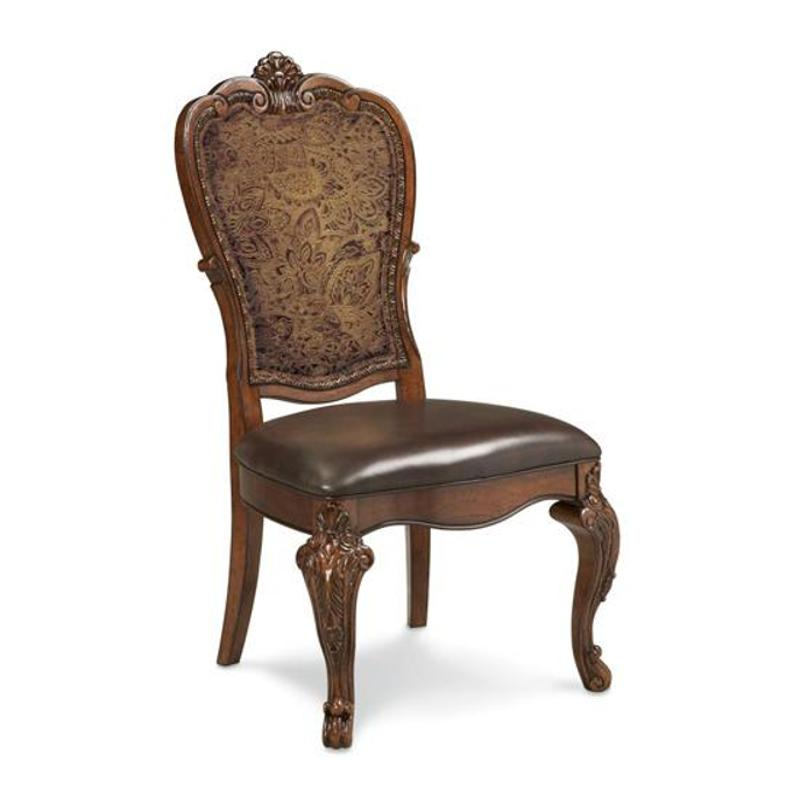 143206 2606 A R T Furniture Old World Upholstered Back Side Chair