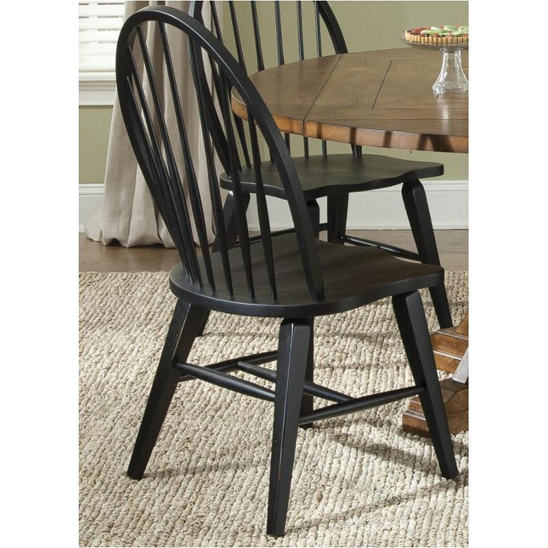 482 C1000s Liberty Furniture Windsor Back Side Chair Black