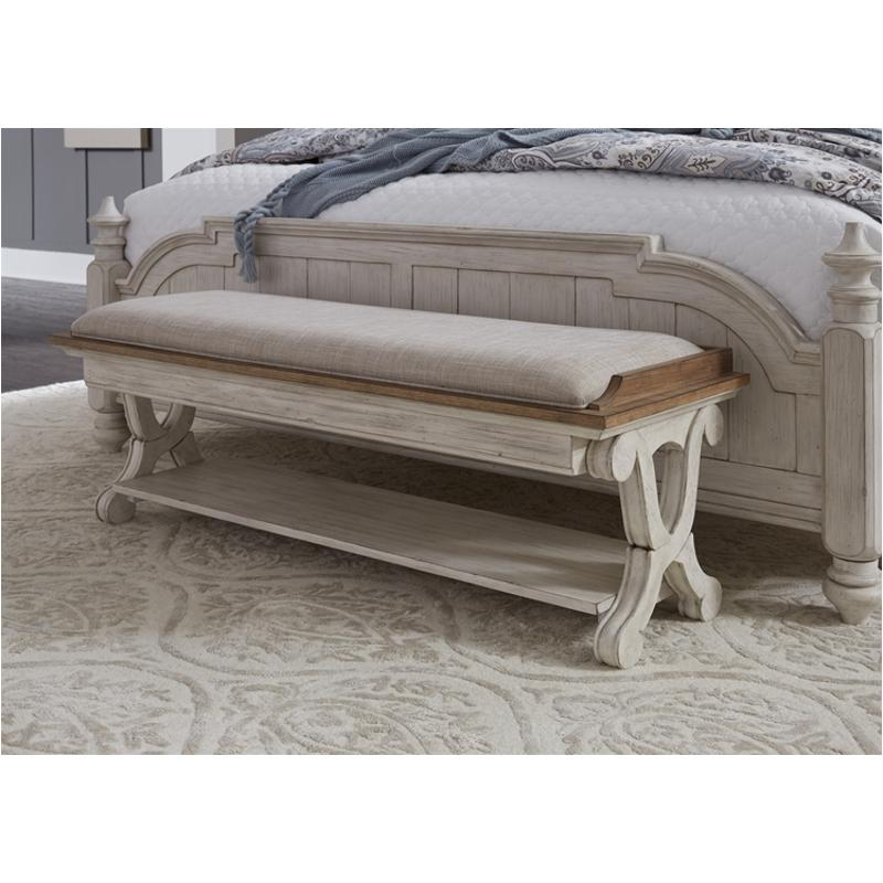 652 Br47 Liberty Furniture Farmhouse Reimagined Bedroom Bed Bench
