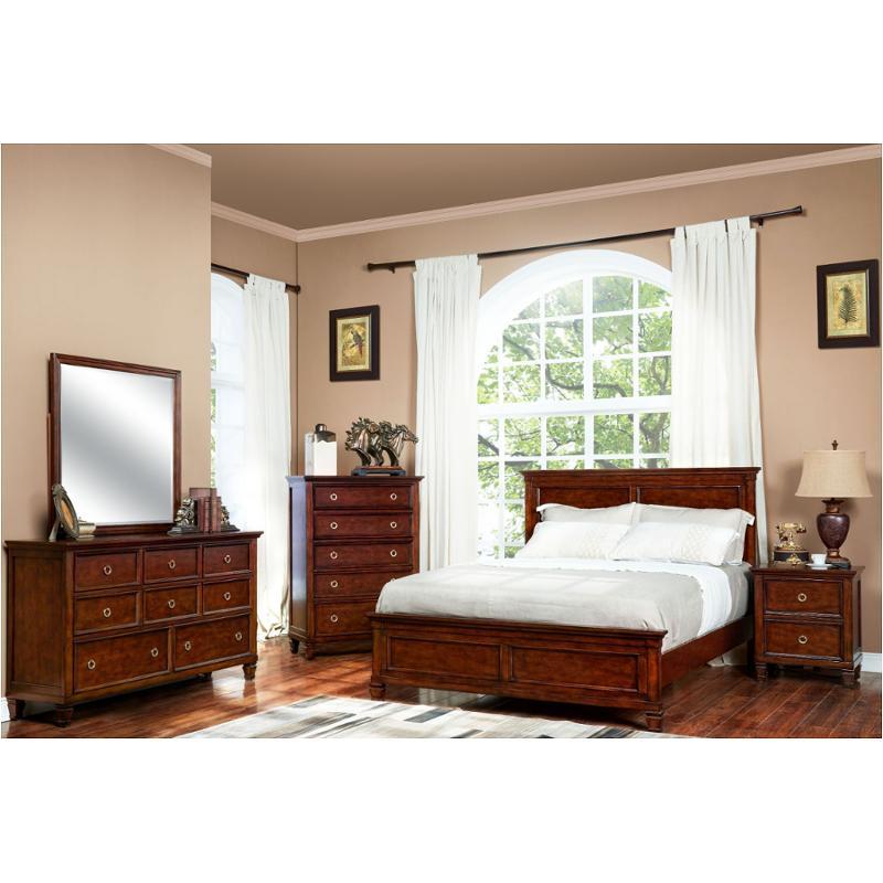 Bb 044c 315 New Classic Furniture Queen Bed, Cherry Veneer Bedroom Furniture
