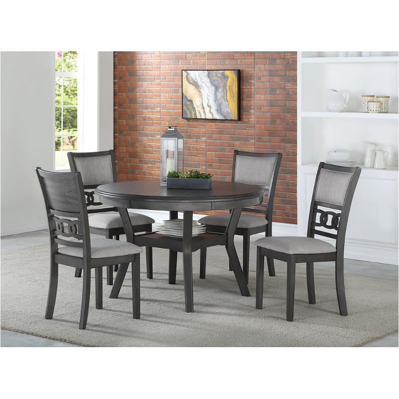 D1701 50s Gry New Classic Furniture Gia, 50s Dining Room Table