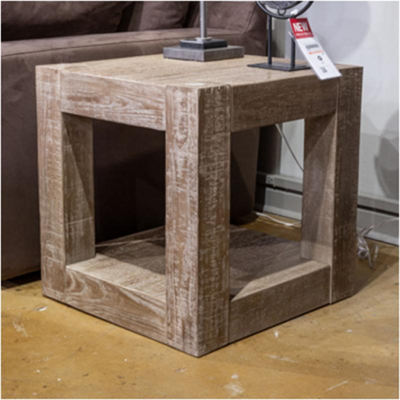 T993 2 Ashley Furniture Sq End Chry Stain Fnsh Slate