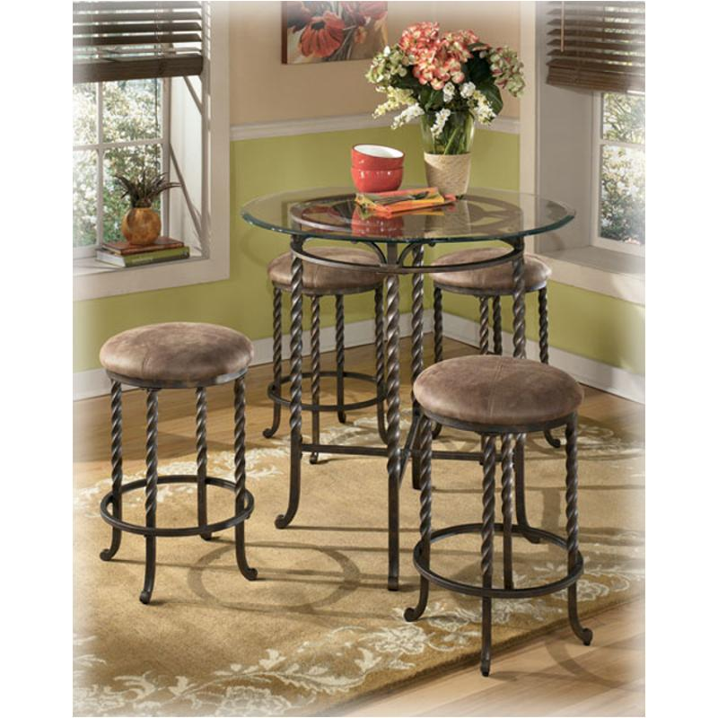 D382 223 Ashley Furniture Pub Table Base 4 24 Inch Bar Stools