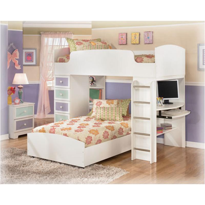 B160 68b Ashley Furniture Twin Hi Loft Lower Bed W Casters