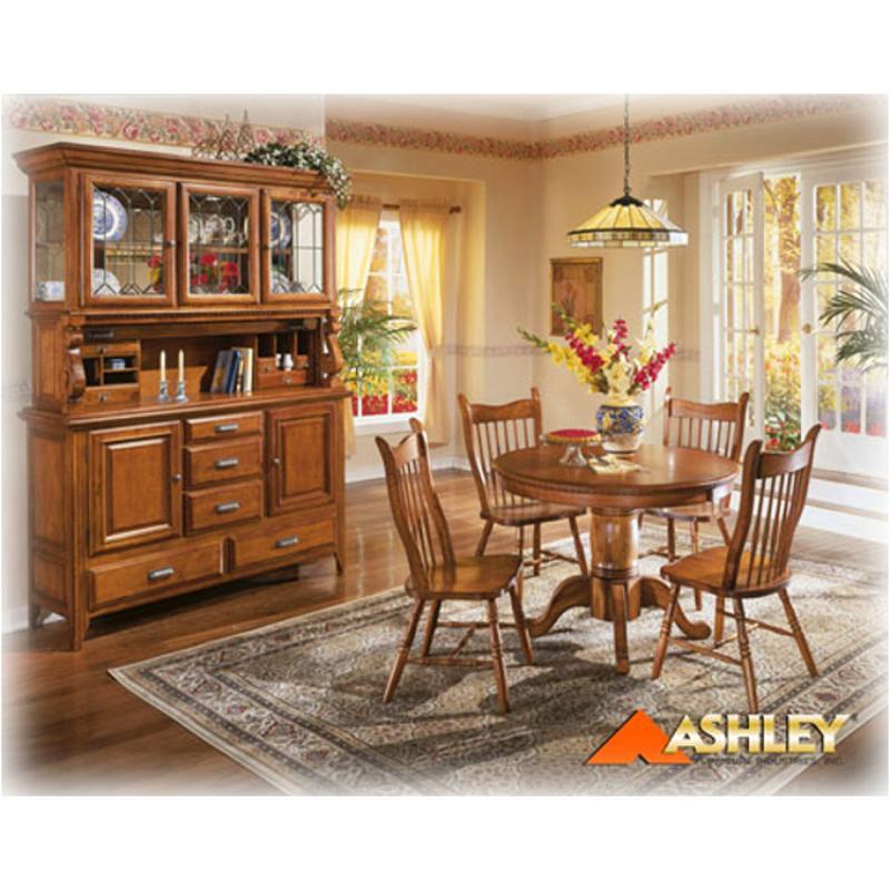 D224 08 Ashley Furniture Drake Mule Ear Chair Oak Stain Finish
