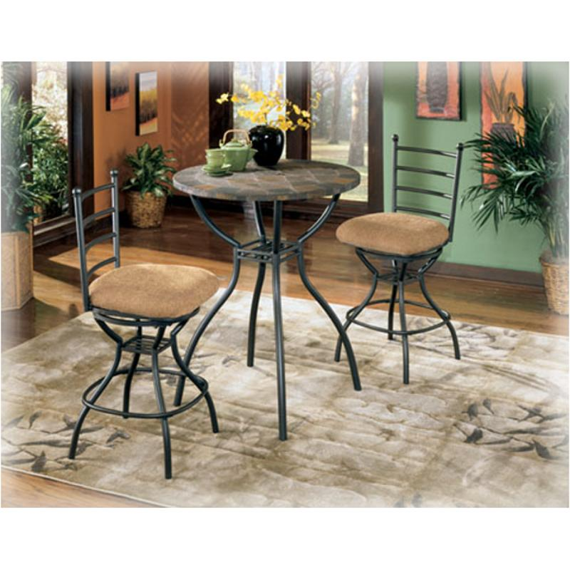D233 13 Ashley Furniture Antigo Pub Table W Fixed Slate Top
