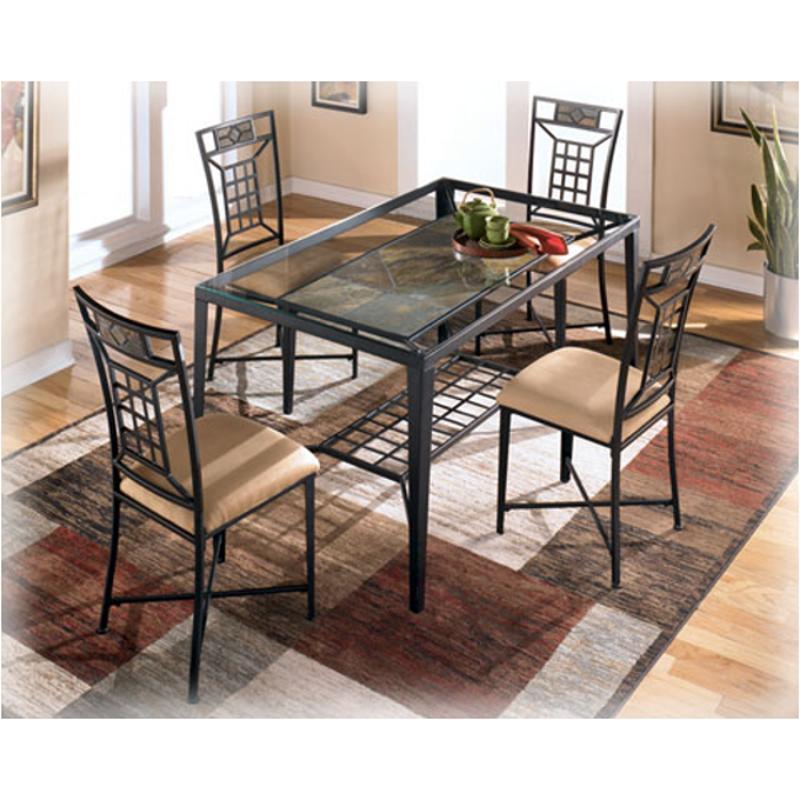D323 25 Ashley Furniture Calder Rectangular Glass Top Table