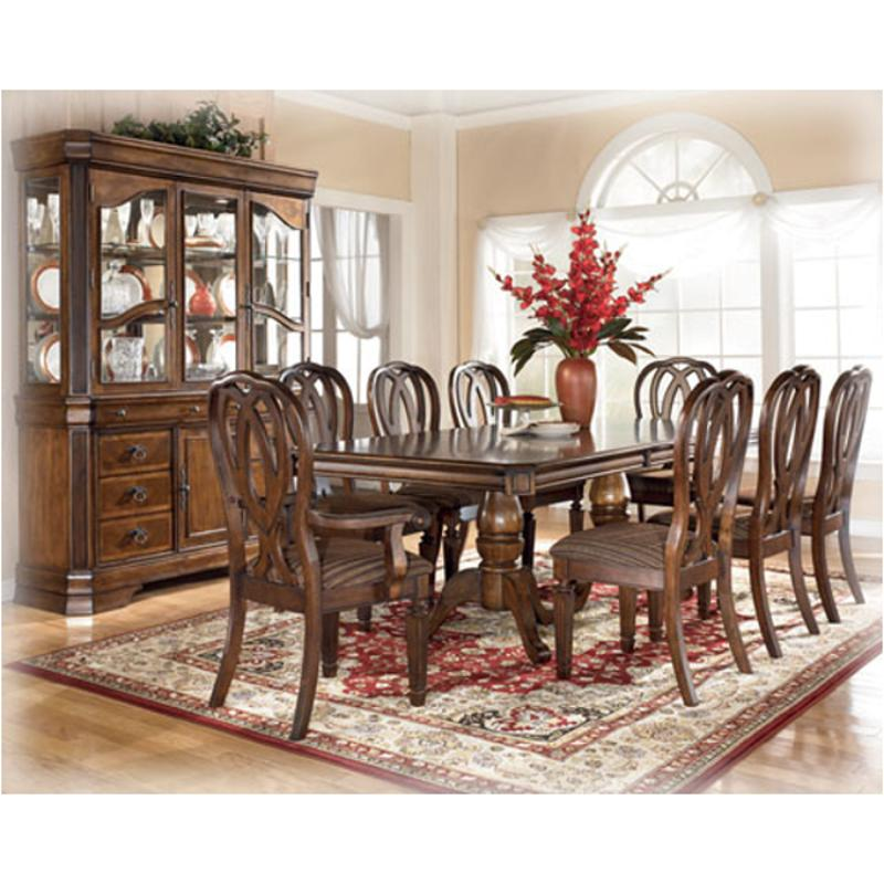 D527 55t Ashley Furniture Rectangular Extension Pedestal Table