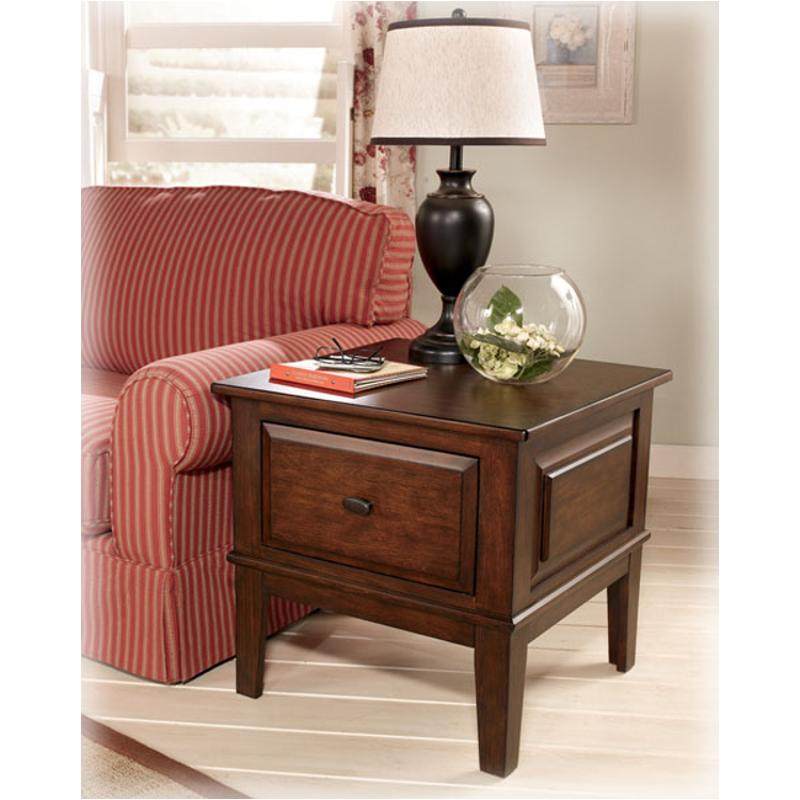 t4222 ashley furniture larchmont living room square end table