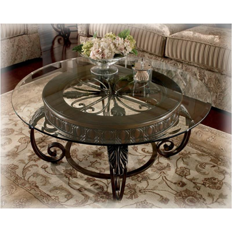 T399 8b Ashley Furniture Tullio Round Cocktail Table Base