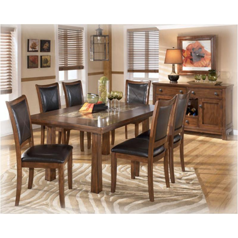 D456 25 Ashley Furniture Rectangular Dining Table Marble Top