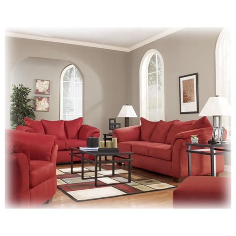 7500138 Ashley Furniture Darcy Salsa, Red Living Room Furniture