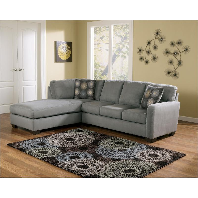 7020067 Ashley Furniture Zella, Gray Sectional Couch Ashley Furniture
