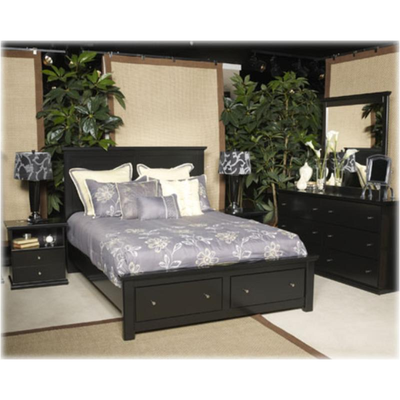 B138 58 St Ashley Furniture King Panel Bed With Storage Fb