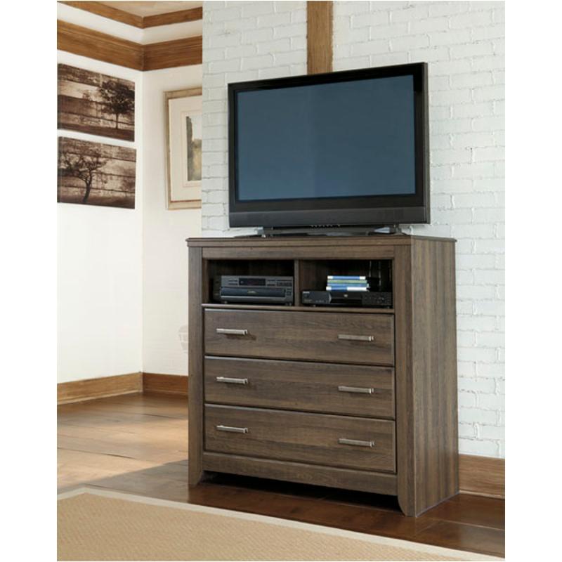 B251 39 Ashley Furniture Juararo Dark Brown Bedroom Media Chest