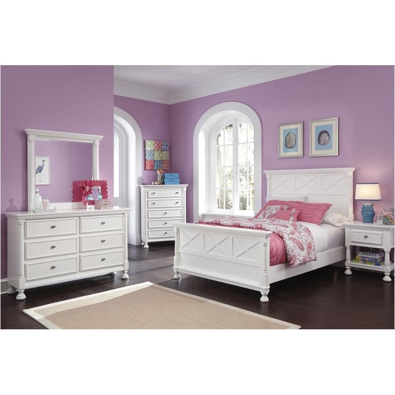 B502 57 Ashley Furniture Kaslyn Bedroom Queen Panel Bed