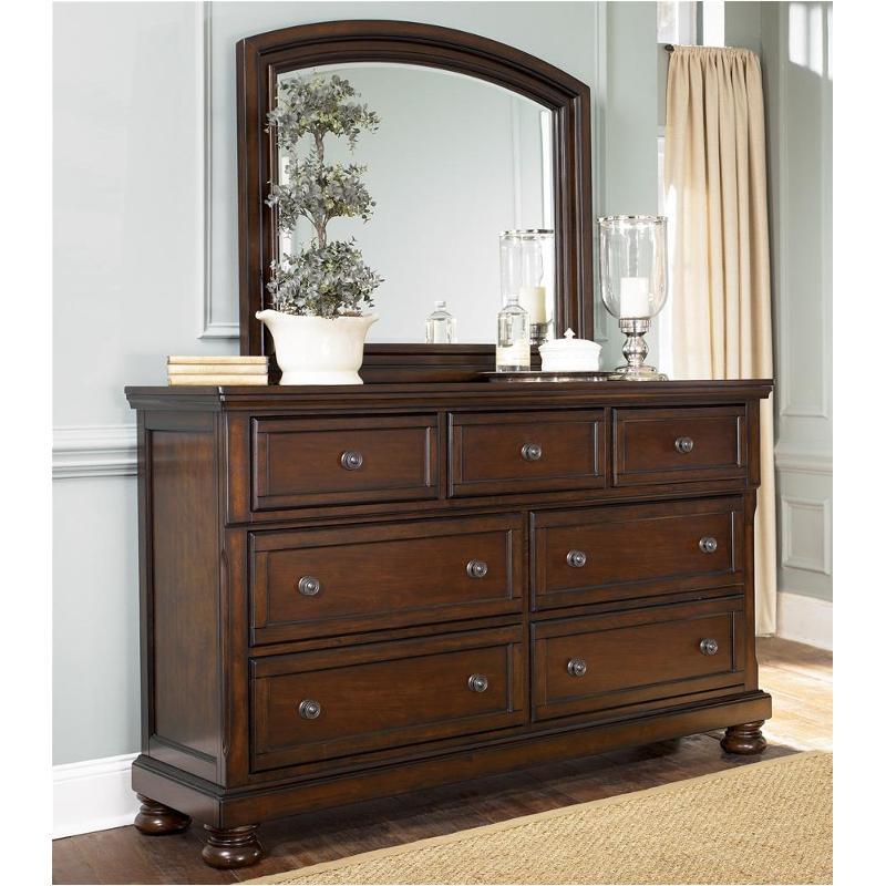B697 36 Ashley Furniture Porter Rustic Brown Mirror For Dresser