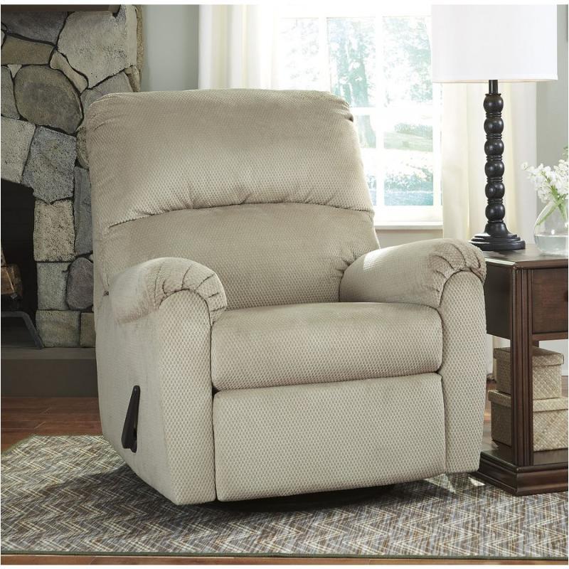 2600361 Ashley Furniture Bronwyn Sand Swivel Glider Recliner