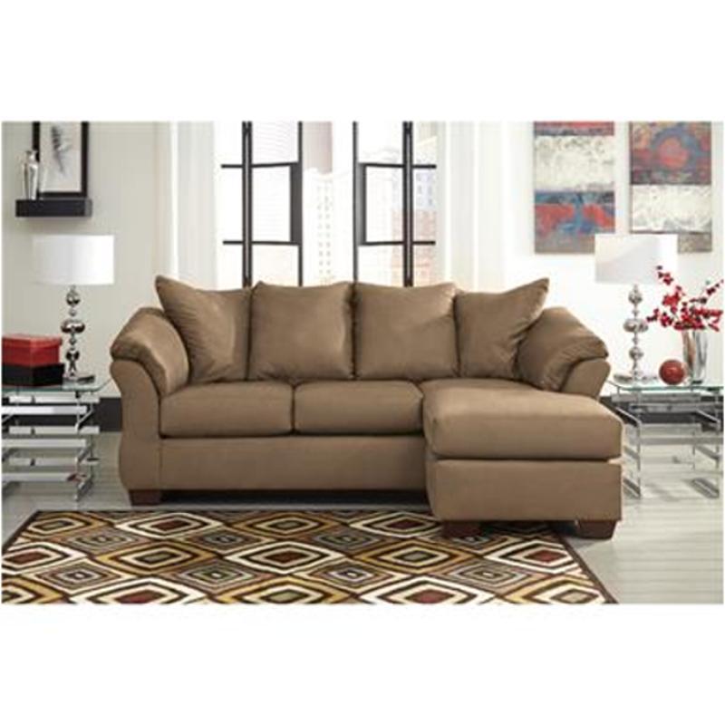 Darcy Mocha Living Room Sofa Chaise
