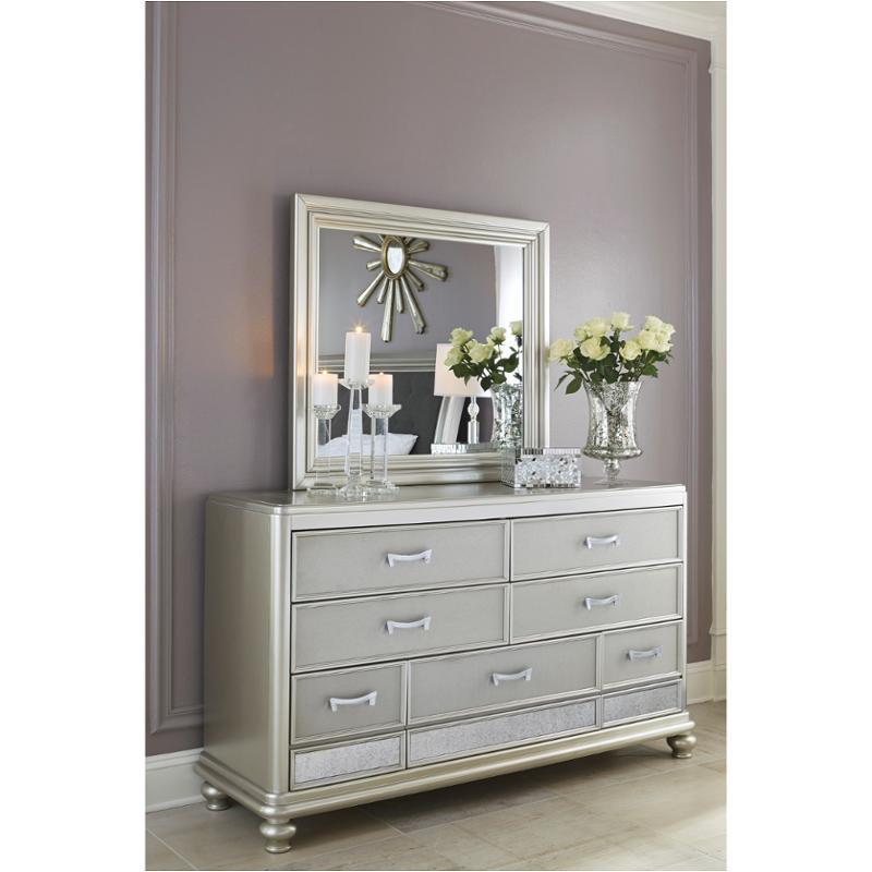 B650 36 Ashley Furniture Coralayne Silver Bedroom Mirror