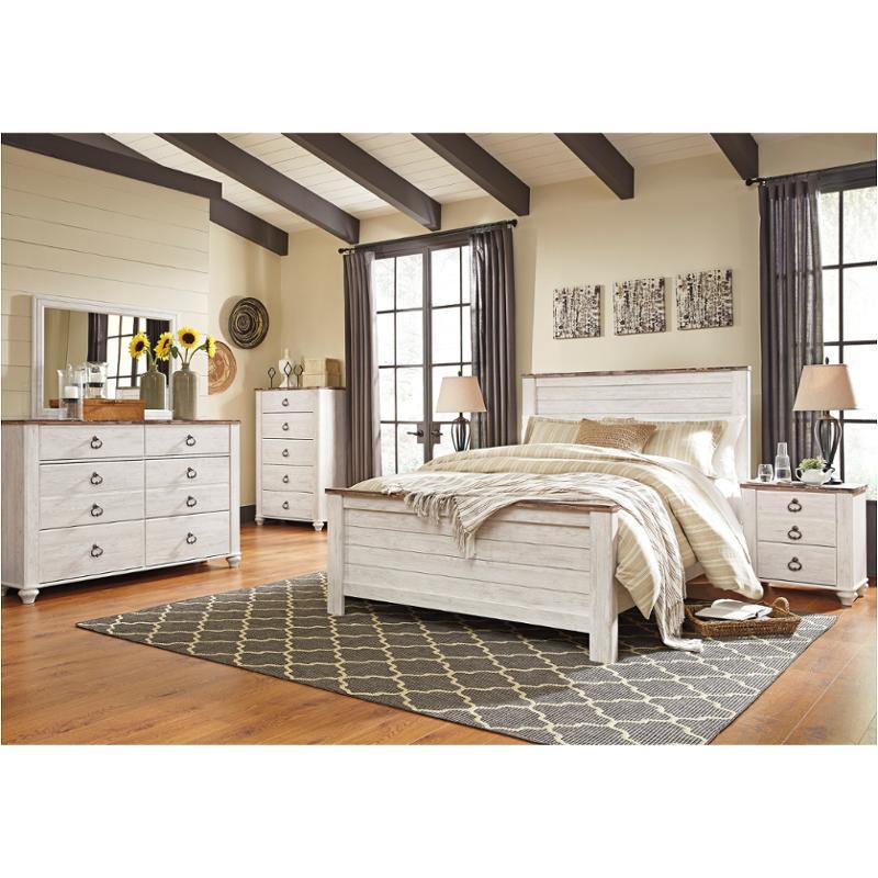 B267 57 Ashley Furniture Queen Full, Whitewash Bedroom Furniture
