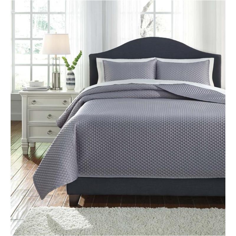 Ashley Furniture Cyrun Gray Queen Duvet Cover Set: Q256023q Ashley Furniture Dietrick