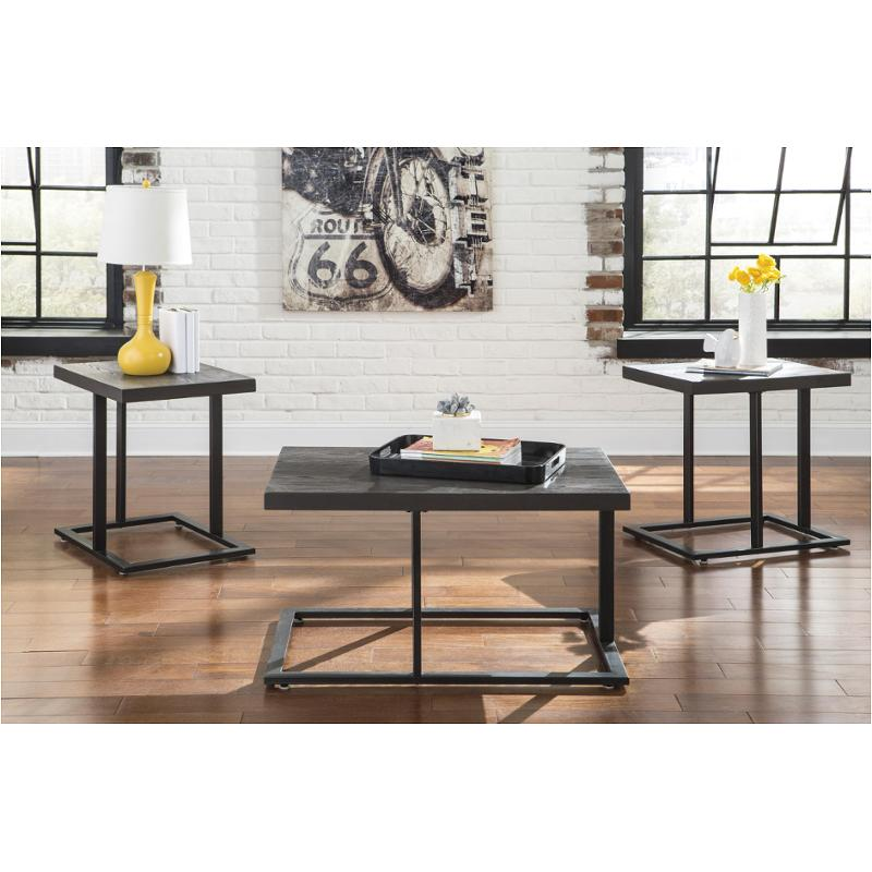 T194 13 Ashley Furniture Airdon Gray Occasional Table Set