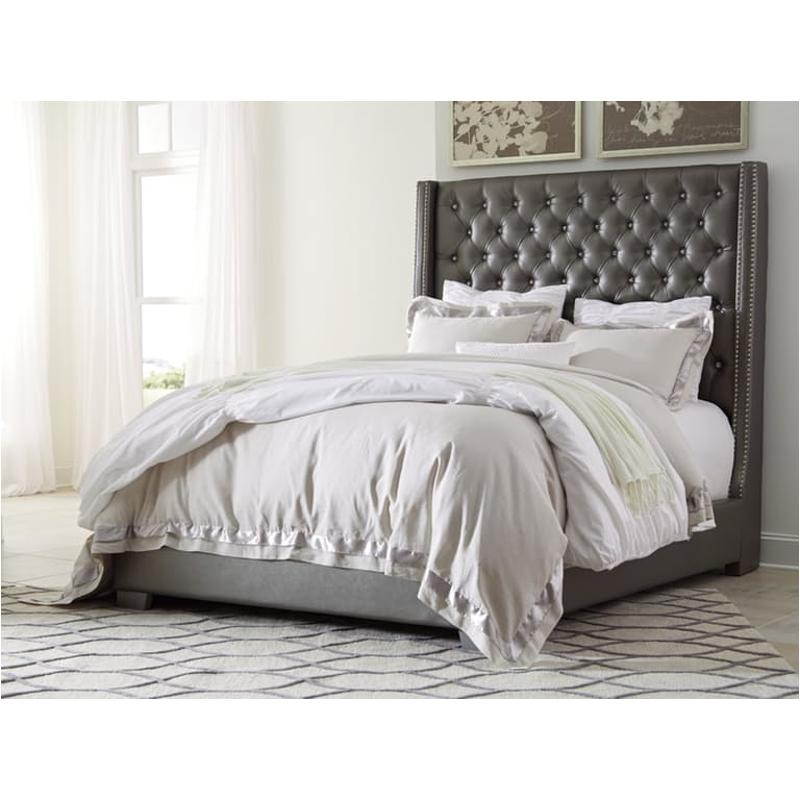Queen Upholstered Tufted Bed, Ashley Furniture Tufted Bed